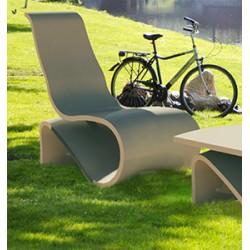 Chaise en béton fibré Augusta