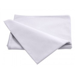 Drap plat 100% coton blanc 120 x 180 cm