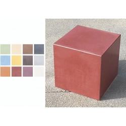 Cube béton fibré performance coloré L45 x P45 x H45 cm