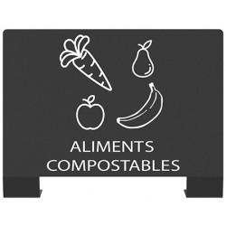 """Plaque signalétique tri sélectif """"ALIMENTS COMPOSTABLES"""""""