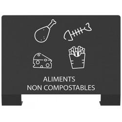 """Plaque signalétique tri sélectif """"ALIMENTS NON COMPOSTABLES """""""