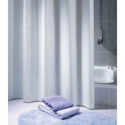 Rideau de douche Excellence 100% polyester hydrofugé sans anneaux blanc L180xH200 cm