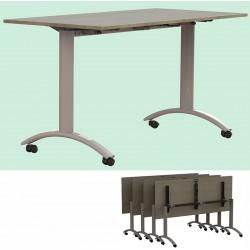 Table plateau rabattable Facile plateau stratifié 160x80 cm