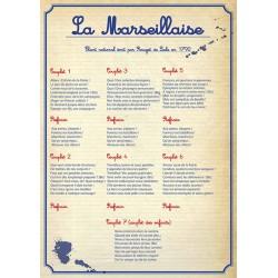 """Panneau affiche rigide en PVC A3 """"Marseillaise"""" modèle 2"""