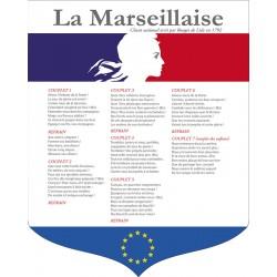 """Écusson PVC 40x50 cm """"Marseillaise"""" modèle 3"""