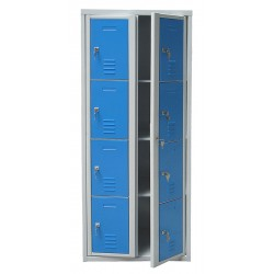 Armoire casiers visitables 8 cases L80 x P49 x H180 cm