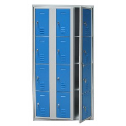 Armoire casiers visitables 12 cases L120 x P49 x H180 cm