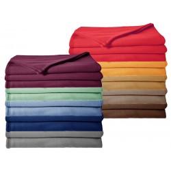 Lot de 10 couvertures polaire 350 g non feu 240 x 260 cm