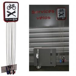 Boîte à outils murale pour entretien velo