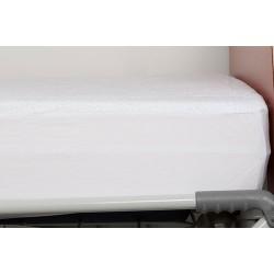 Drap housse en éponge enduite PVC avec pourtour jersey maille 90x190x15 cm