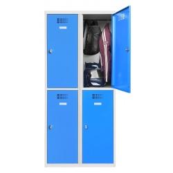 Vestiaire multicases  2 colonnes 2 cases L80 x P50 x H 180 cm