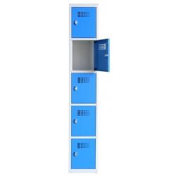 Vestiaire multicases  1 colonne 5 cases L30 x P50 x H 180 cm