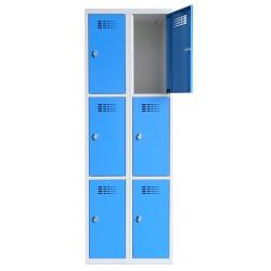 Vestiaire multicases  2 colonnes 3 cases L60 x P50 x H 180 cm