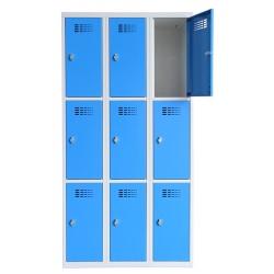 Vestiaire multicases  3 colonnes 3 cases L90 x P50 x H 180 cm