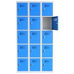 Vestiaire multicases  3 colonnes 5 cases L90 x P50 x H 180 cm