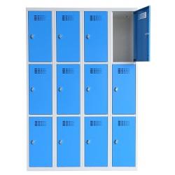 Vestiaire multicases  4 colonnes 3 cases L120 x P50 x H 180 cm