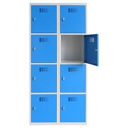 Vestiaire multicases  2 colonnes 4 cases L80 x P50 x H 180 cm