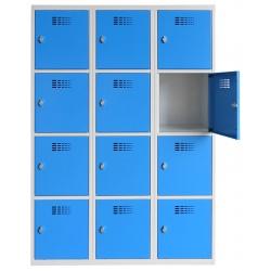 Vestiaire multicases  3 colonnes 4 cases L120 x P50 x H 180 cm