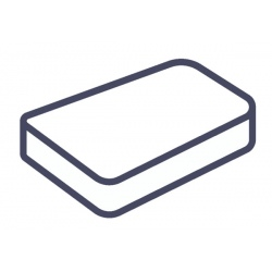 Lot de 75 alèses housse matelas jetables blanc 90x190x15 cm