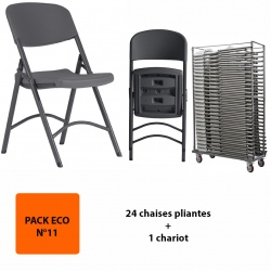 Pack Eco 11 : 24 chaises Confort Q+ + 1 chariot