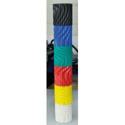 Protection pour poteau rond non feu M2 autoadhésive pour intérieur 75 x 75 cm