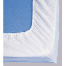 Protège matelas drap housse molleton coton enduit 170g 140x190 cm