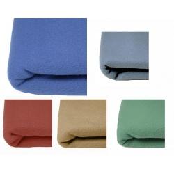 Lot de 10 couvertures polaires unies 350 gr 180x220 cm