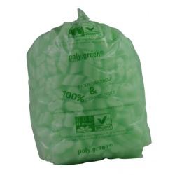 Sacs type 20L lien coulissant vert biodégradable 450x450 (le carton de 250)