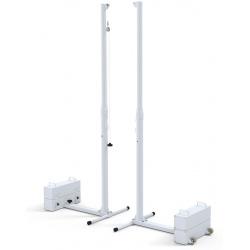 Poteaux de volley mobiles en acier tension par cabestan (la paire)