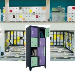 Casiers élèves visitables fermeture moraillon 8 cases H207xL90,2xP55 cm