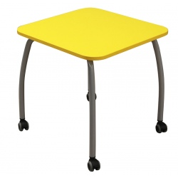 Table maternelle mobile Lucie 60 x 60 cm mélaminé chants ABS T3