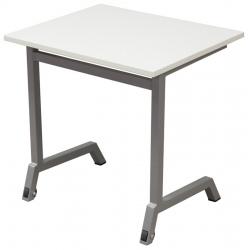 Table maternelle mobile Maud 60 x 50 cm mélaminé chants ABS T3