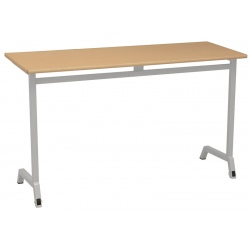 Table scolaire mobile Maud 130 x 50 cm mélaminé chants ABS T4 A 6