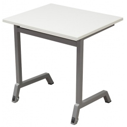 Table scolaire mobile Maud 70 x 50 cm stratifié chants ABS T4 A 6