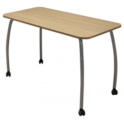 Table scolaire mobile Lucie 130 x 65 cm mélaminé chants ABS T6