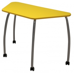 Table scolaire mobile Lucie 130 x 65 x 65 cm mélaminé chants ABS T6