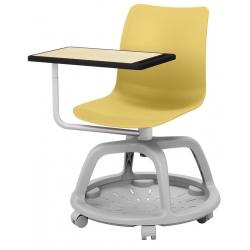 Lot de 2 chaises coques mobiles avec tablette Lisa