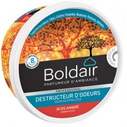 Lot de 6 unités Boldair gel destructeur d'odeurs bois ambré 300 g