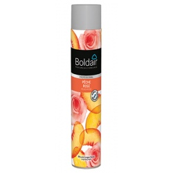 Lot de 12 Boldair parfumant pêche rose 750 ml