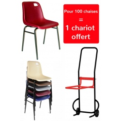 Chaise coque Lara M2 empilable (1 chariot offert pour 100 chaises)