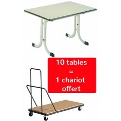 Table pliante Kopp 120x80 cm (1 chariot offert pour 10 tables)