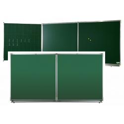 Triptyque Classic NF émail e3 vert craie H100xL200 cm