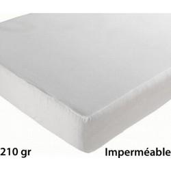 Lot de 6 protèges matelas drap housse imperméable coton et pu 210g 140x200 cm