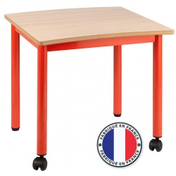 Table maternelle modulable plateau stratifié 21 mm 60 x 60 cm T1