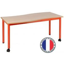 Table maternelle modulable plateau stratifié 21 mm 120 x 60 cm T1