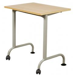 Table scolaire mobile Louane stratifié 21 mm chant bois 70 x 50 cm