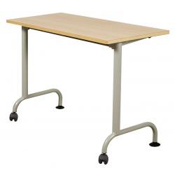 Table scolaire mobile Louane stratifié 21 mm chant bois 130 x 50 cm
