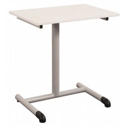 Table scolaire à dégagement latéral Chloé mélaminé 19 mm chant PP 70 x 50 cm