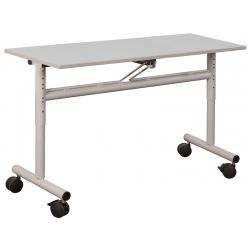 Table scolaire mobile et rabattable stratifié 24 mm chant PP 130 x 50 cm