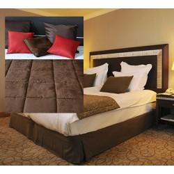 Lot de 6 chemins de lit Céline réversibles tissus microfibre coins droits 65x135 cm
